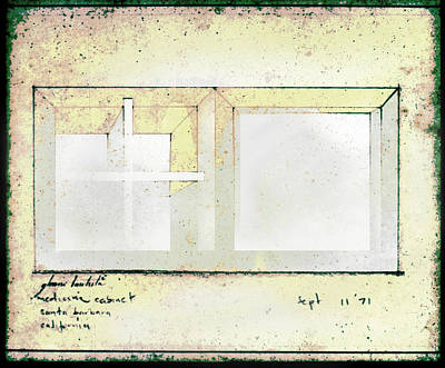 Drawing - My Medicine Cabinet 1971 by Glenn Bautista