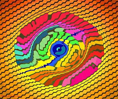 Friendly Digital Art - My Minds Eye 1 by Joyce Dickens