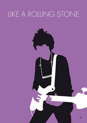 Musicians Digital Art - No001 My Bob Dylan Minimal Music Poster by Chungkong Art