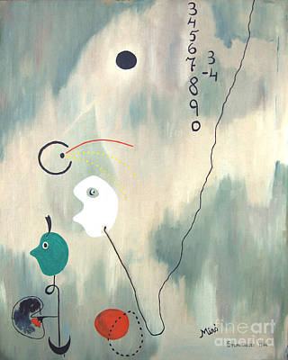 Visionary Painting - My Miro by Jerome Stumphauzer
