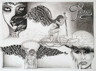 Fantasy Drawings - My montage by Teri Schuster