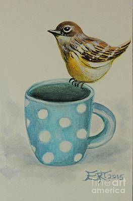Painting - Polka Dot Songbird Delight by Elizabeth Robinette Tyndall