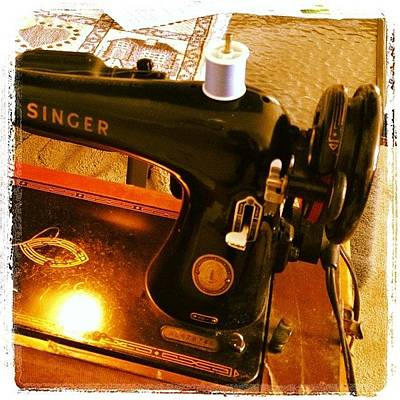 Machine Photograph - My Mother's Sewing Machine. #vintage by Heidi Hermes
