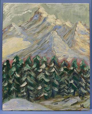 Painting - My Mountains by Mary LaFever