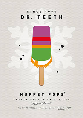 Tooth Digital Art - My Muppet Ice Pop - Dr Teeth by Chungkong Art