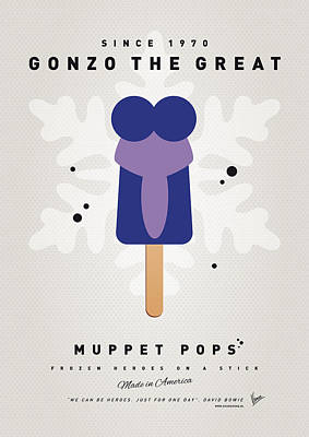My Muppet Ice Pop - Gonzo Art Print by Chungkong Art