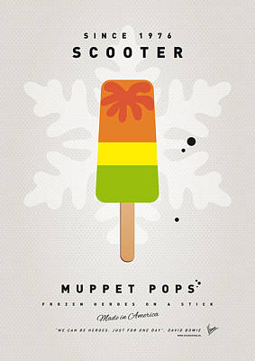 Scooter Digital Art - My Muppet Ice Pop - Scooter by Chungkong Art