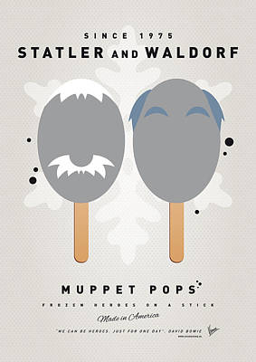 Kids Books Digital Art - My Muppet Ice Pop - Statler And Waldorf by Chungkong Art