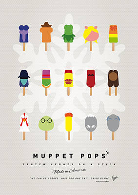 Icecream Digital Art - My Muppet Ice Pop - Univers by Chungkong Art