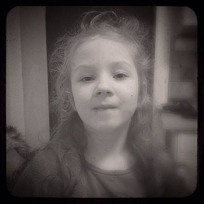 Iphone 4s Photograph - My #muse Grows Up So Fast... #olivie by Jan Kratochvil