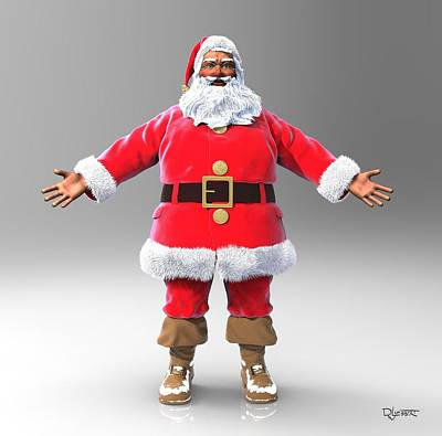 Sculpture - My Name Is Santa by Dave Luebbert