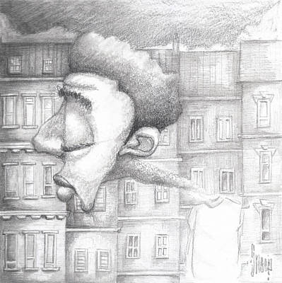 Afro American Art Drawing - My Neck Of The Woods by Levi Robinson XRIBL