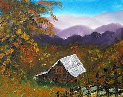 My Neighbors Barn Big Sandy Mush Nc Art Print by Margaret G Calenda
