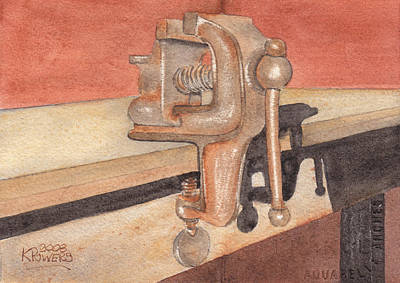 Painting - My Neighbors Vise by Ken Powers