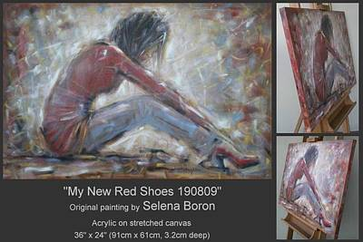 Art Print featuring the painting My New Red Shoes 190809 by Selena Boron