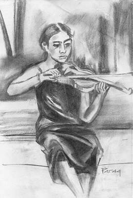 Drawing - My New Violin by Parag Pendharkar