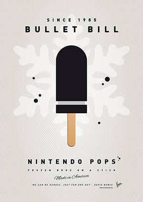 Peaches Digital Art - My Nintendo Ice Pop - Bullet Bill by Chungkong Art