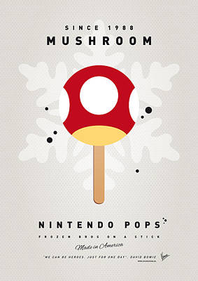 Icecream Digital Art - My Nintendo Ice Pop - Mushroom by Chungkong Art