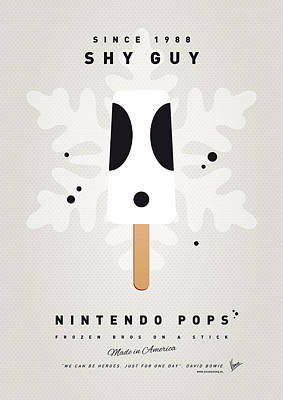 Super Mario Bros Art Digital Art - My Nintendo Ice Pop - Shy Guy by Chungkong Art