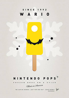 Icecream Digital Art - My Nintendo Ice Pop - Wario by Chungkong Art