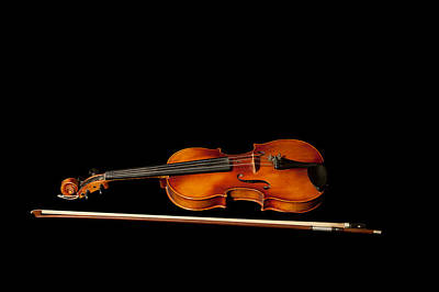 Violin Photograph - My Old Fiddle And Bow by Torbjorn Swenelius