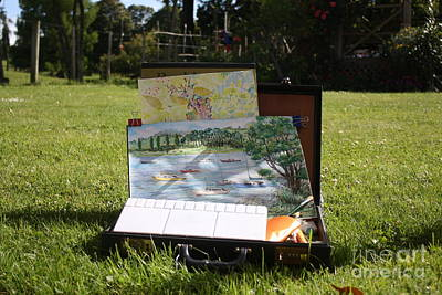 Tool Box Painting - My Outdoor Painting Box by Phong Trinh