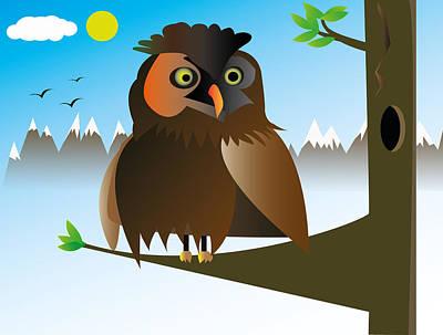 Digital Art - My Owl by Kenneth Feliciano