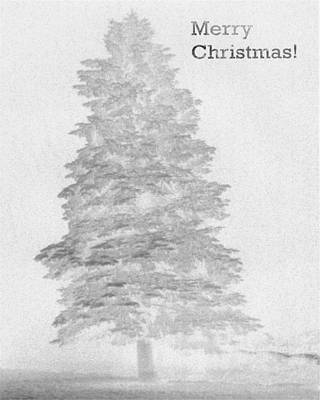 My Norman Rockwell Living Christmas Tree - Black And White Art Print by James Scott Preston