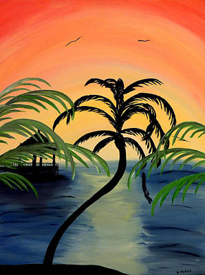 Mark Moore Painting - My Paradise by Mark Moore