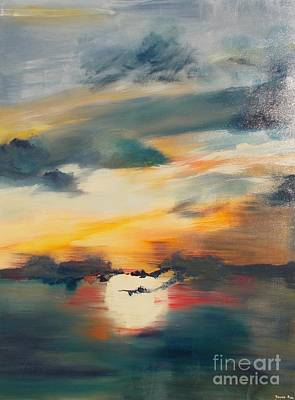 Art Print featuring the painting My Paradise Sunrise by PainterArtist FIN
