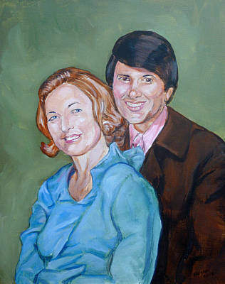 Painting - My Parents by Bryan Bustard