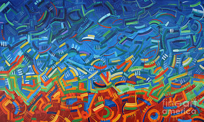 Abstract Pattern Painting - My Path by Michael Ciccotello