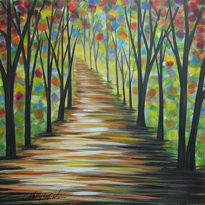 Abstract Realism Painting - My Path by Molly Roberts