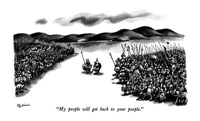 My People Will Get Back To Your People Art Print by Eldon Dedini
