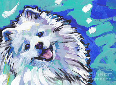 Dog Painting - My Peskie Eskie by Lea S