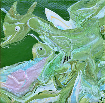 Painting - My Pet Dragon by Donna Blackhall
