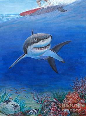 Painting - My Pet Shark by George I Perez