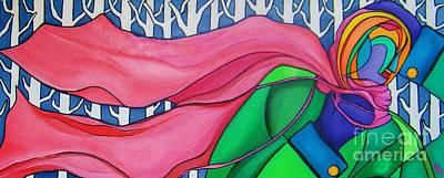 Painting - My Pink Scarf by Deborah Glasgow