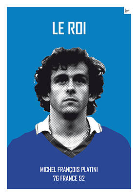 Barcelona Digital Art - My Platini Soccer Legend Poster by Chungkong Art