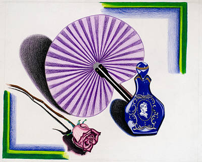 Drawing - My Purple Fan by Teri Schuster