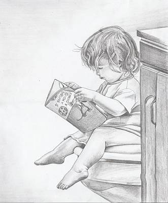 Drawing - My Reading Chair by Beverly Marshall