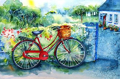 Painting - My Red Bicycle by Trudi Doyle