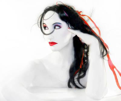 My Red Melancholy - Self Portrait Art Print