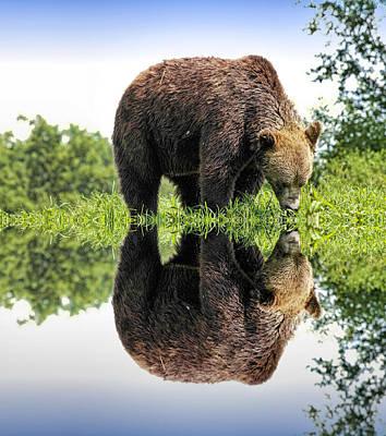 Fuzzy Digital Art - My Reflection by Geraldine Scull