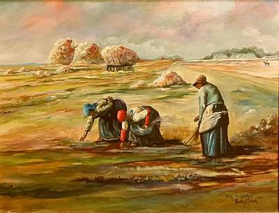 Painting - My Rendition Of Millet S The Gleaners by Kendra Sorum