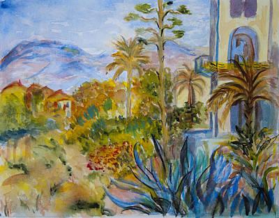 My Rendition Of Villas At Bordighera Art Print