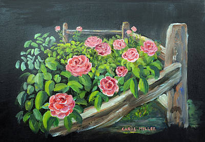 Painting - My Rose Garden by Carol L Miller