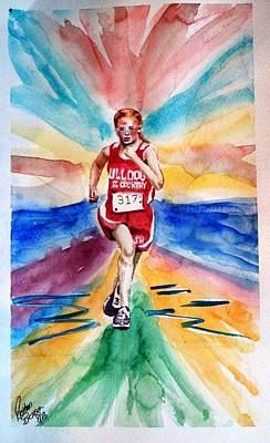 My Sarah Running Cross Country Art Print by Richard Benson