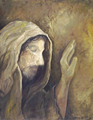 Painting - My Savior - My God by Stephanie Broker