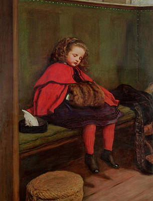 My Second Sermon, 1864 Oil On Canvas Print by Sir John Everett Millais